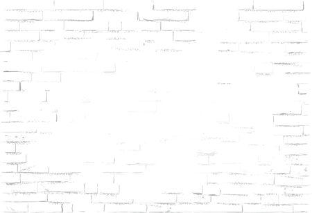 Gray brick wall. Simple vector Ilustração