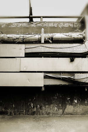 Background with part of an engineering equipment in the technical premise.