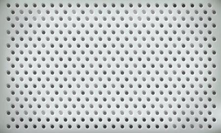 Perforated metal plate as an industrial background. 版權商用圖片
