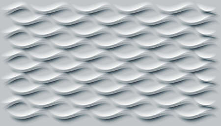 Prominent wave shaped decoration with smooth texture, vector.