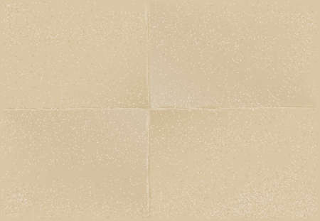 Paper sheet texture with folds, vector.