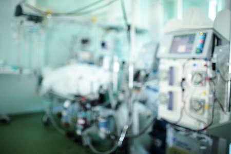 Critical care unit, unfocused background. 版權商用圖片