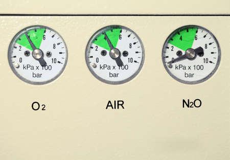 Medical gas pressure measuring device. Reklamní fotografie