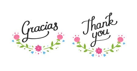 Gracias Español Imágenes De Archivo, Vectores, Gracias Español ...