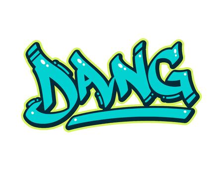swear: Word Dang in cool urban graffiti style.