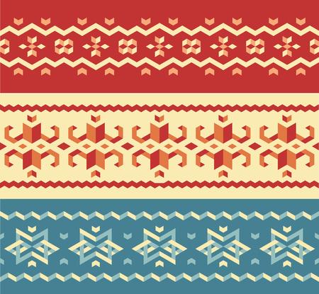 sueter: conjunto sin fisuras patrón suéter navidad, adornos tradicionales de invierno. Vector elementos de diseño.
