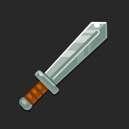 epic: Cartoon sword icon for video game. Modern flat vector illustration. Illustration