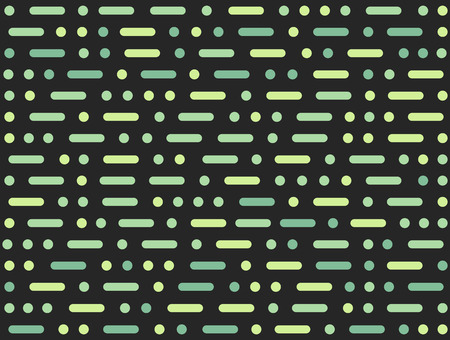 Morse code inspired abstract seamless pattern, geometric dots and dashes. Vector background texture.