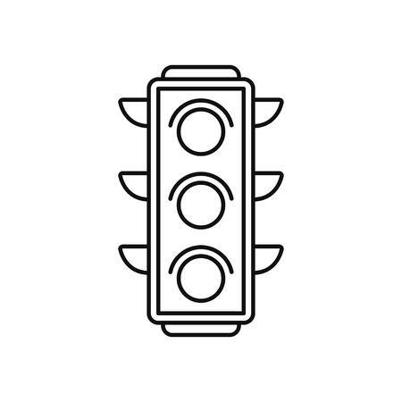 Traffic light icon in thin line style