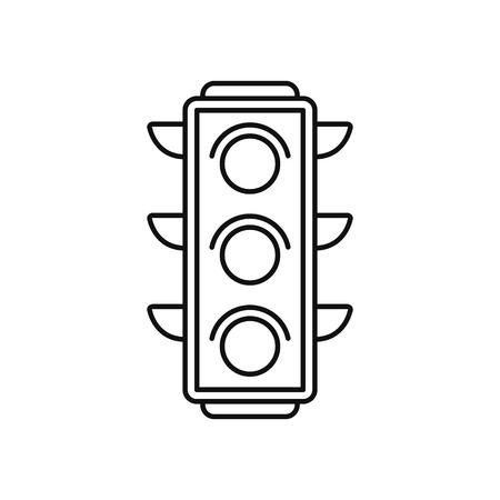 Semaforo icona nella sottile linea di stile Vettoriali