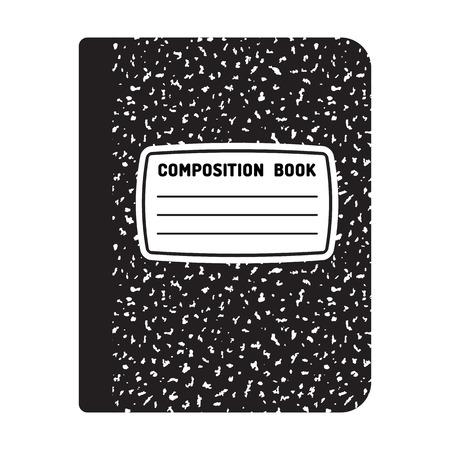 Skład Szablon książka. Tradycyjne szkoły ilustracji notebooka. Ilustracje wektorowe