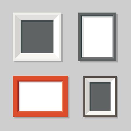 Set of image simple moderne cadres sur le mur. illustration plat.