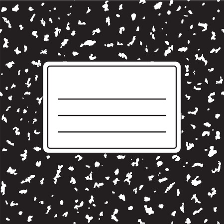 Traditional notebook cover template vector illustration. Background texture is tileable and seamless.