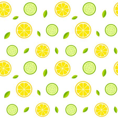 Nahtlose Textur mit Zitronen, Gurken und Minze. Gesunde frische Limonade oder Salat Muster. Vector illusrtation. Vektorgrafik