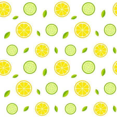 cucumbers: Seamless texture with lemons, cucumbers and mint leaves. Healthy fresh lemonade or salad pattern. Vector illusrtation. Illustration