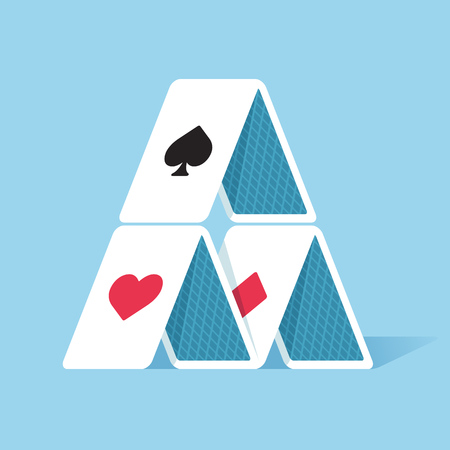 odds: House of cards in simple flat style. Vector illustration. Illustration