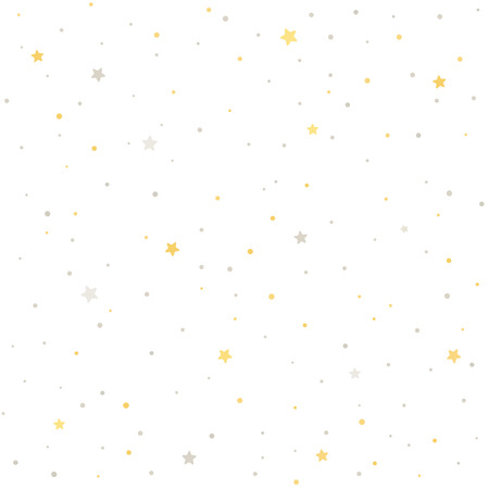 Seamless star pattern. Silver and golden stars on white background. Tile able texture.