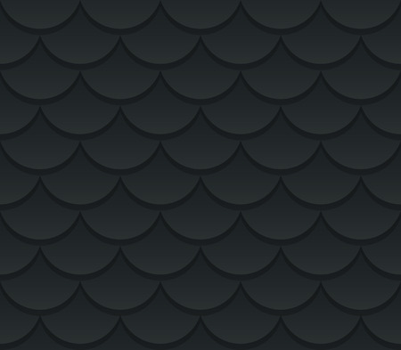 fish scale: Seamless dark fish scale texture. Stylish background vector pattern.