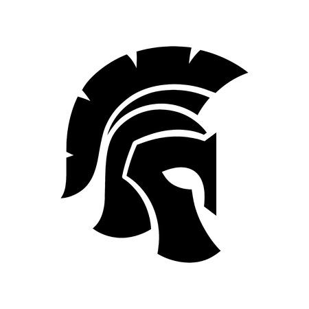 Gladiator helmet silhouette icon