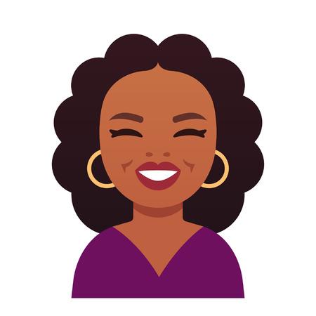 2018 년 1 월 14 일. 미국 캘리포니아 주 비벌리 힐즈. 오프라 윈프리 (Oprah Winfrey), 유명인 미국 TV 주인. 재미있는 만화 스타일 캐리 커 처 초상화, 평면 벡터 일러스트 레이 션. 스톡 콘텐츠 - 93341842