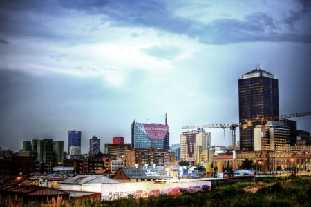 johannesburg: Johannesburg city skyline