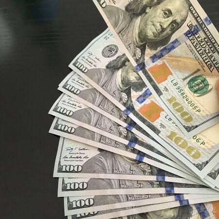 greenback: Closeup of dollars