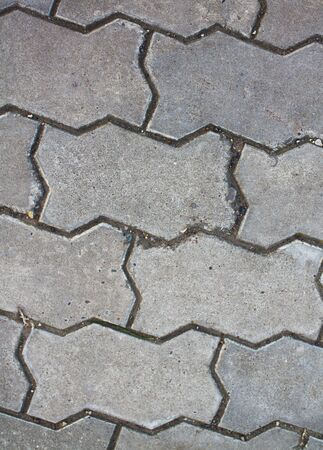 tileable: Gray Figured Pavement. Seamless Tileable Texture. Stock Photo