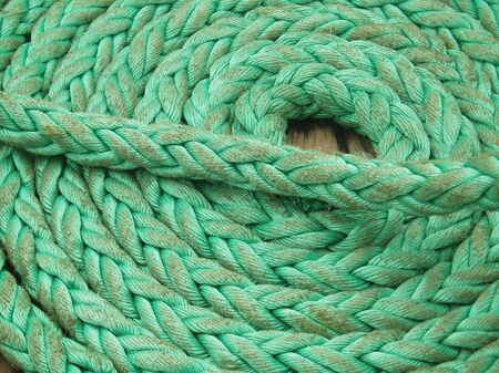 coiled rope: Coiled Green rope