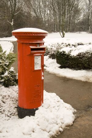 letterbox: Postbox set in the snow
