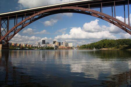 mississippi river: St Paul, Minnesota and the Mississippi river