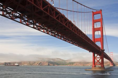 bridges: Golden Gate Bridge from below