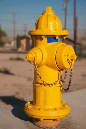 barstow: Typical yellow American Fire Hydrant