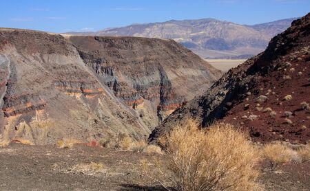 strata: The strata and cinder on the Panamint Range, California Stock Photo