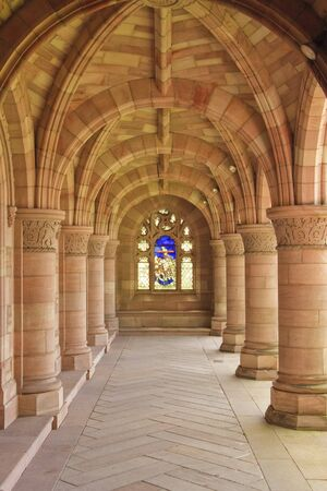 The arches within Kelso Abbey photo