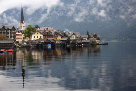 The lake and picturesque village of Hallstatt, Austria   photo