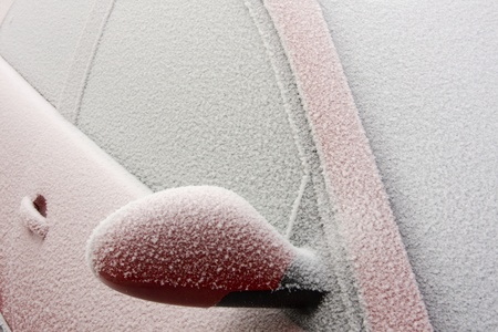 Frozen car photo