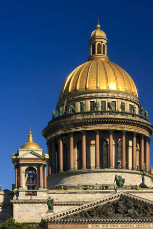 One of the many beautiful golden domes in St  Petersburg, Russua photo