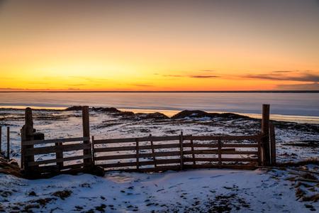 atlantic ocean: Sun rising over the North Atlantic Ocean Stock Photo