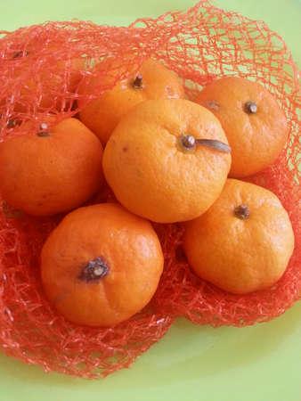 red: Mandarinas maduras