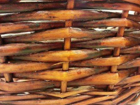 Rattan basket pattern  Stock Photo
