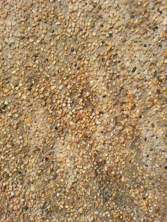 surface: Gravel wall design Stock Photo