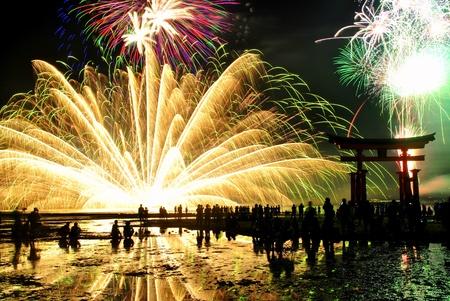 Fireworks in Miyajima, Hiroshima