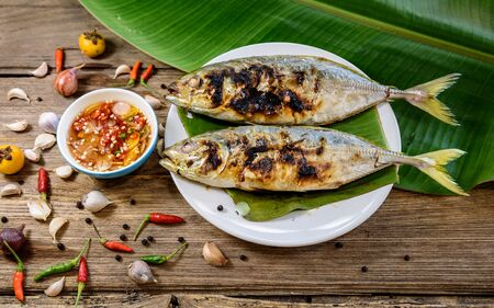 gilt head: grilled fish with spicy sauce