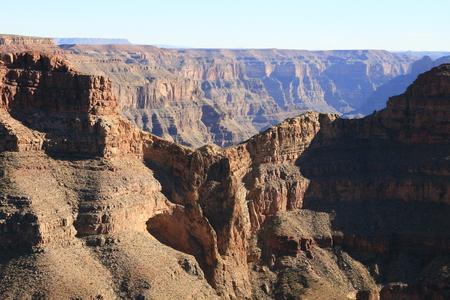 eagle canyon: Eagle Point on the West Rim Grand Canyon Arizona.USA. The famous travel destination. Stock Photo