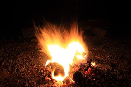 smolder: fire burning from coal wood