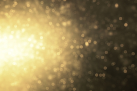 Defocus deep gold light illustration. Abstract firefly bokeh. luxury bg for copy space concept