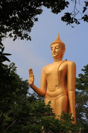stojící bronzová socha Buddha, obraz Reklamní fotografie