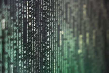 computer technology background. binary code computer language data transfers. big data and ai artificial intelligence cyber network. digital business environment.