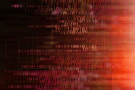 world of digital data. global connections by cyber war binary information transmitted. danger in digital business concepts. red data power grid. dark Age of digital data and burning red patterns.