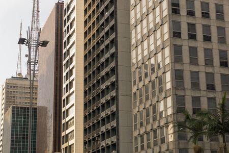 Facade of commercial buildings.